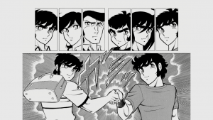 剣崎と竜児の試合前の握手